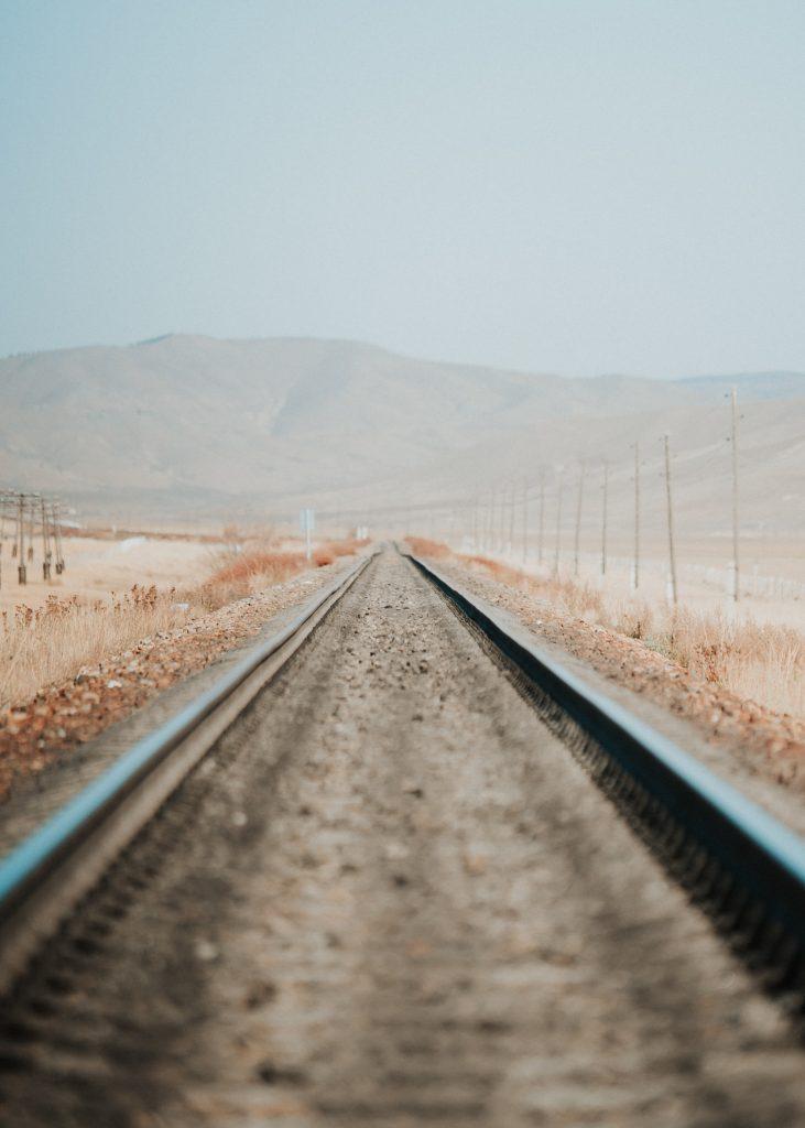 Train track, road